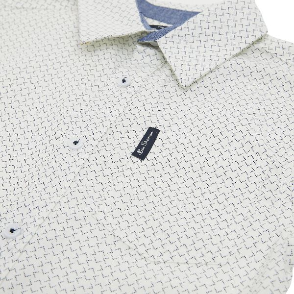 Kids Dotted Geo Shirt, OFF WHITE, hi-res