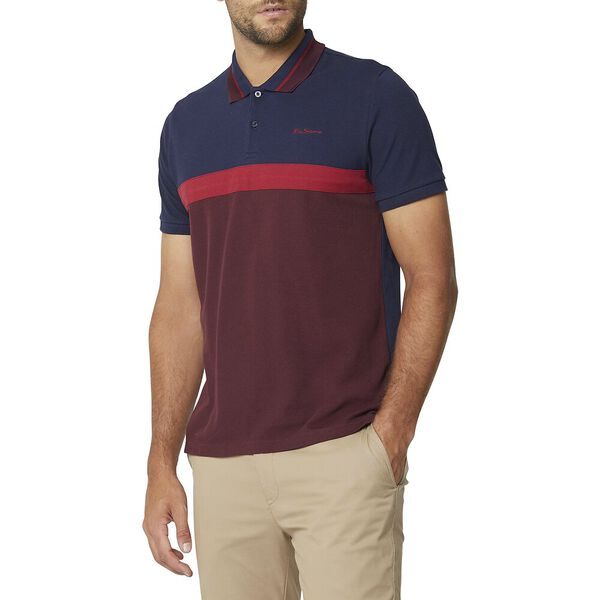 CONTRAST PANEL SCRIPT POLO WINE, WINE, hi-res