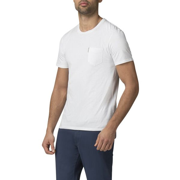 PLAIN POCKET T-SHIRT, WHITE, hi-res