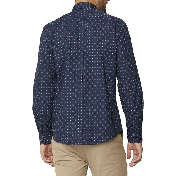 GRAPHIC GEO MOD SHIRT, MIDNIGHT, hi-res
