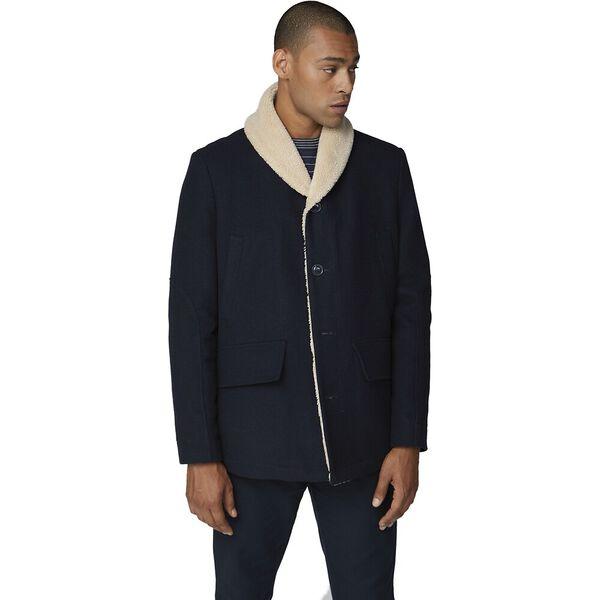 Heavyweight Shawl Collar Coat Midnight