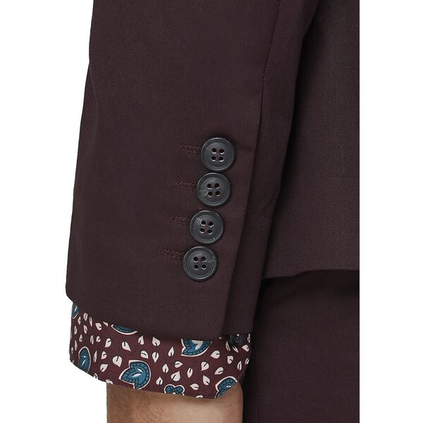 BURGUNDY COTTON JACKET, BURGUNDY, hi-res