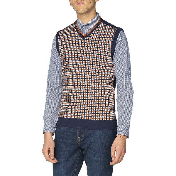 PATTERN FRONT KNITTED VEST