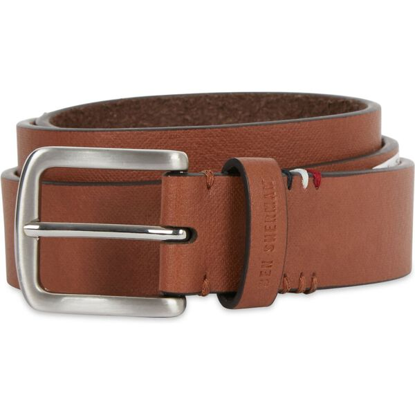 35Mm Pin Buckle Belt With Keychain Tan