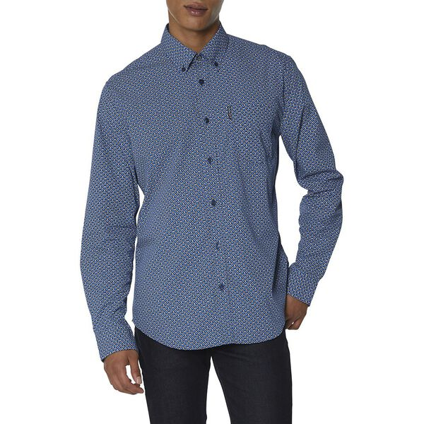 Scales Geo Shirt, NAVY, hi-res