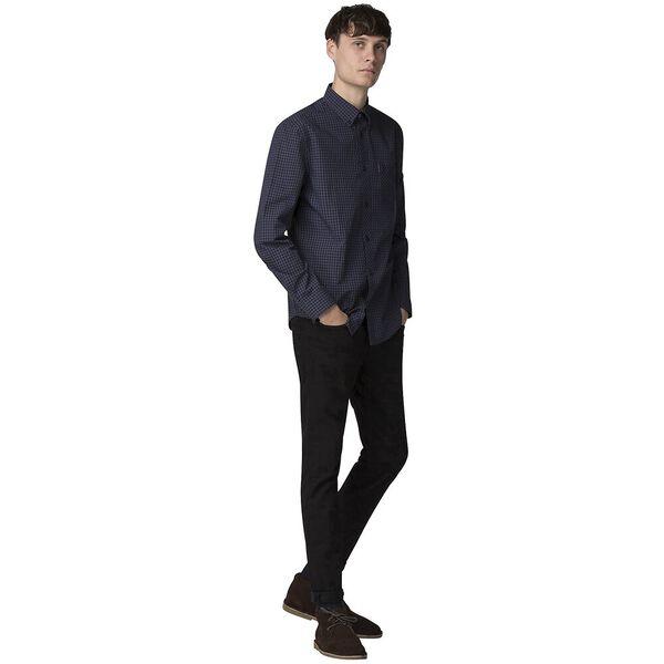 Gingham Shirt, BLUE GREY, hi-res