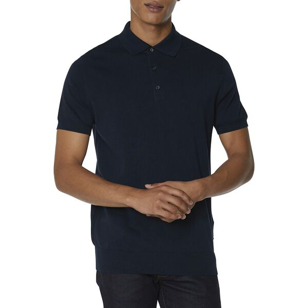 KNIT POLO KNIT, DARK NAVY, hi-res