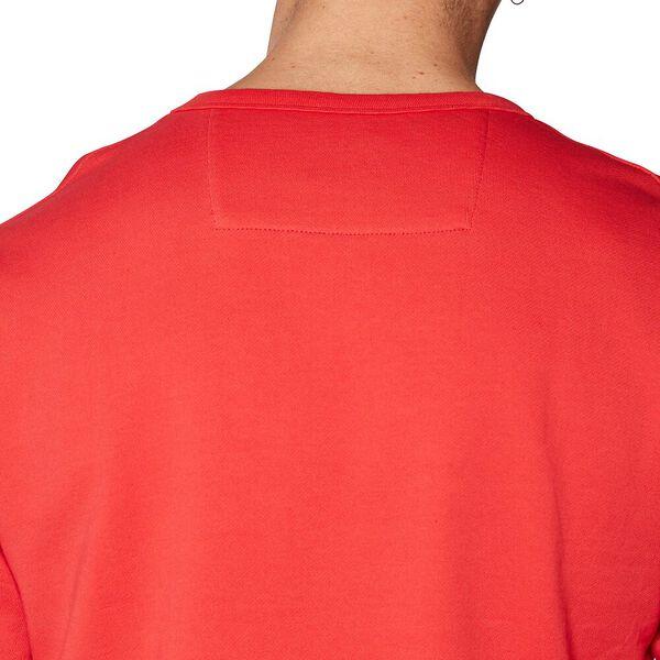 LOGO COLOUR BLOCK SWEAT, RED, hi-res