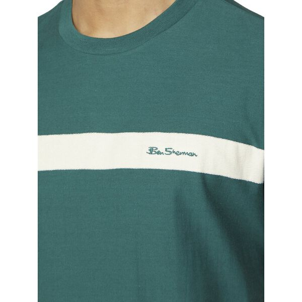 Reverse Loop Logo Stripe Tee, TREKKING GREEN, hi-res