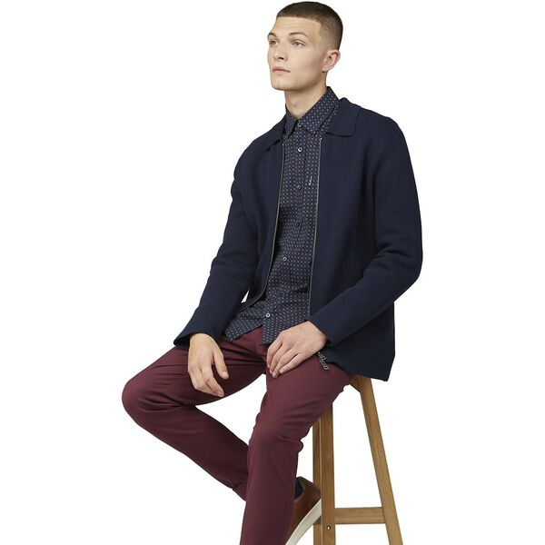 SCATTERED SQUARE PRINT SHIRT, MIDNIGHT, hi-res