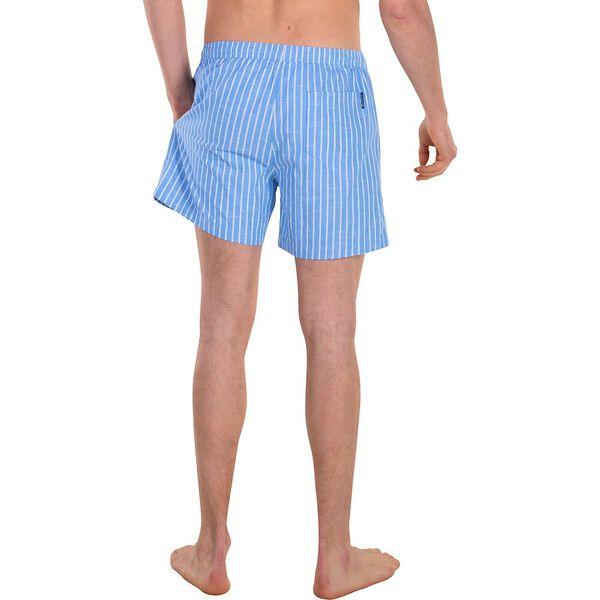 Stripe Elastic Short, LIGHT INDIGO, hi-res