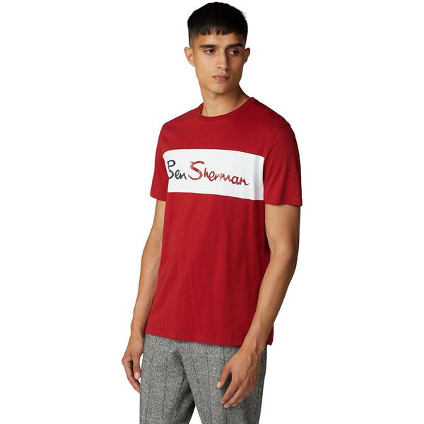 SPORTS CUT AND SEW BRANDED TEE RUBY