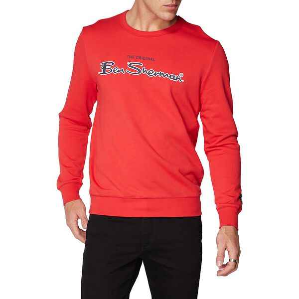 Logo Colour Block Sweat Red