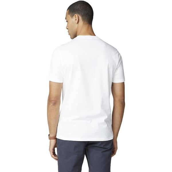 PRINTED CHEST STRIPE TEE, WHITE, hi-res