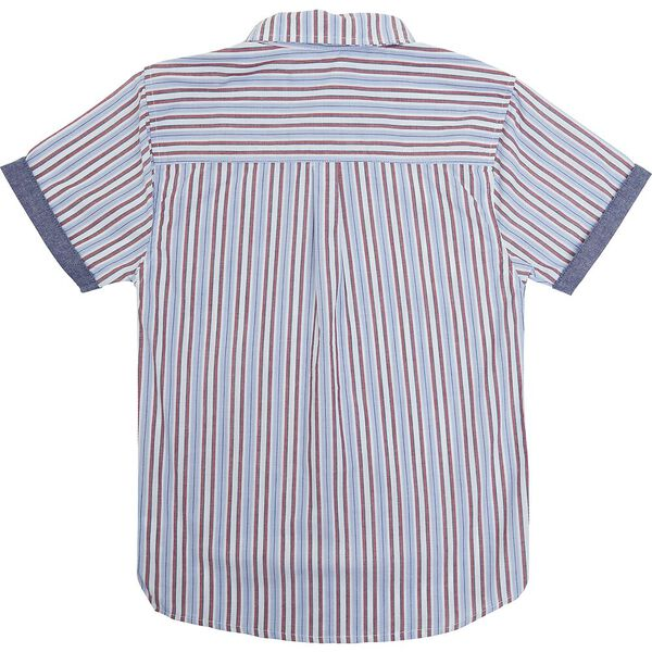 Kids Striped Check Shirt, WHITE/BLUE/RED, hi-res
