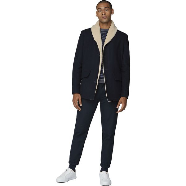 HEAVYWEIGHT SHAWL COLLAR COAT, MIDNIGHT, hi-res