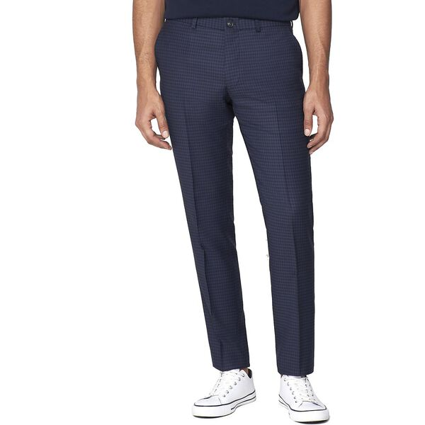 British Deep Gingham Trouser, ROYAL BLUE, hi-res