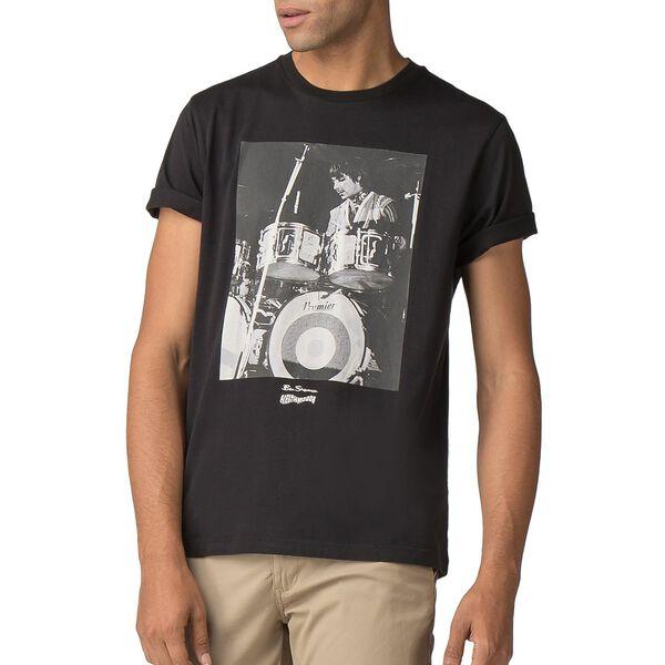 BEN SHERMAN X KEITH MOON DRUMMER T-SHIRT, BLACK, hi-res