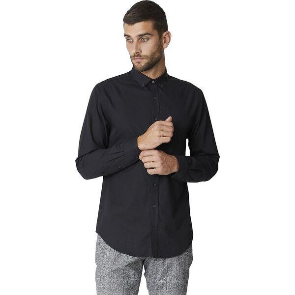 Ls Formal Kings Diamond Geo Dobby Shirt, BLACK, hi-res