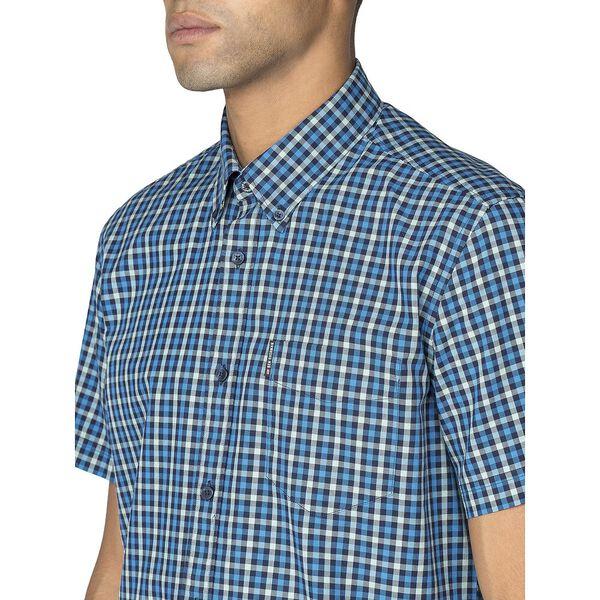 Ss House Gingham Shirt, MARINE, hi-res
