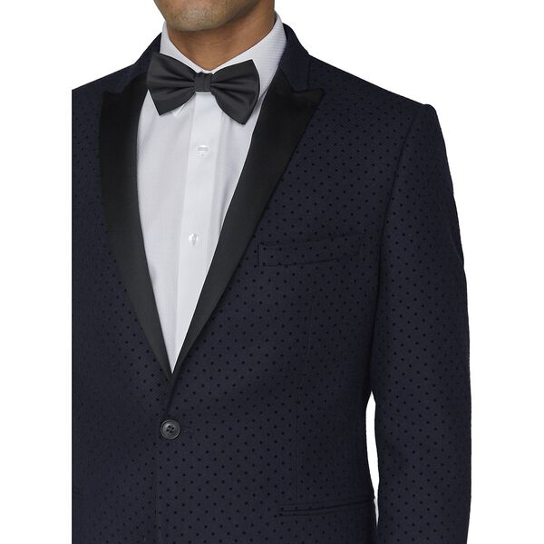 Navy Polka Jacket, NAVY, hi-res