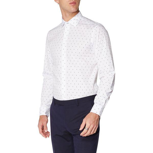 Formal Diamond Print Kings Shirt, STAPLES NAVY, hi-res