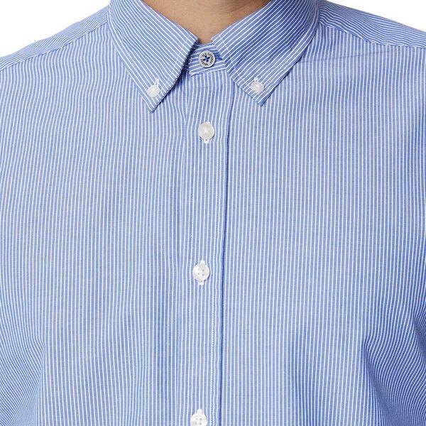 Simple Stripe Mod Ls Shirt Bright Blue, BRIGHT BLUE, hi-res