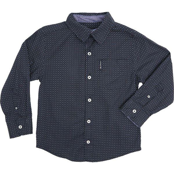 Ls Optical Spots Shirt Navy