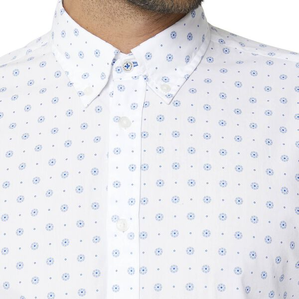 GRAPHIC GEO LS MOD SHIRT WHITE, WHITE, hi-res