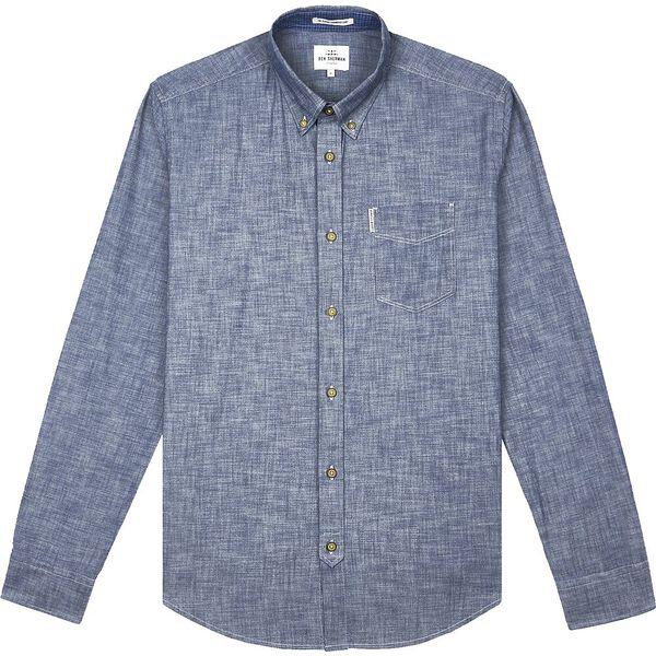 Chambray Shirt, DARK NAVY, hi-res