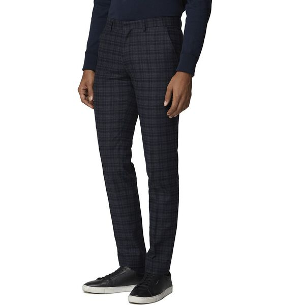 Navy Charcoal Check Trouser Navy