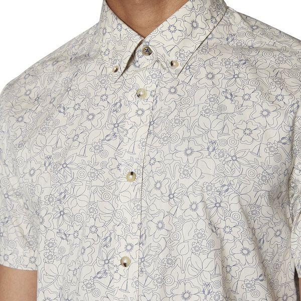 Retro Floral Shirt, OFF WHITE, hi-res