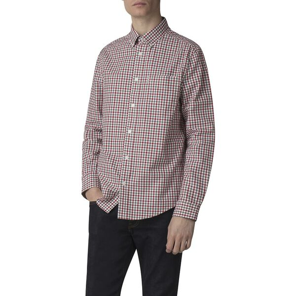 LS HOUSE GINGHAM SHIRT, OFF WHITE, hi-res