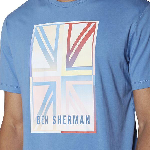 Gradient Union Jack T-Shirt, PARISIAN BLUE, hi-res