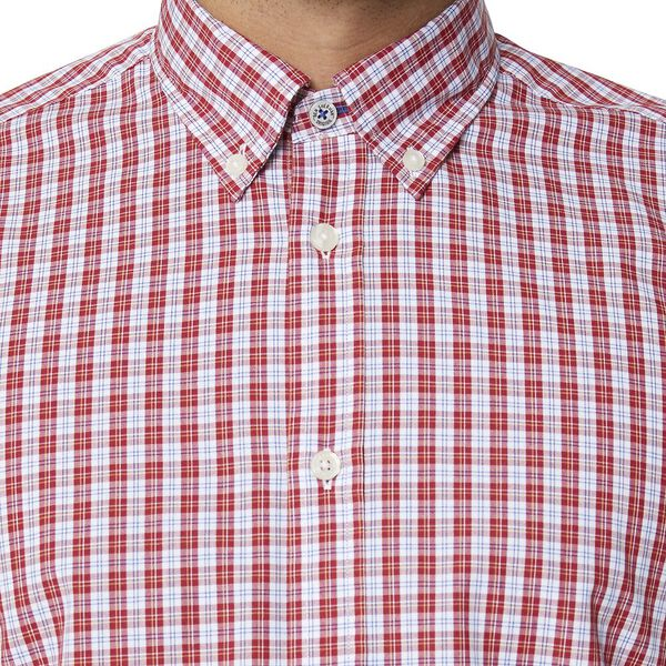 GINGHAM CHECK MOD SHIRT, RED, hi-res
