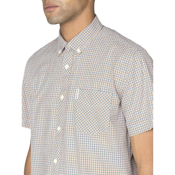 MINI HOUSE GINGHAM SHIRT, ORANGE, hi-res