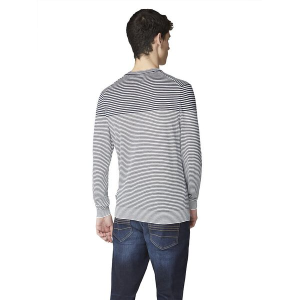 Breton Stripe Crew Knit, DARK NAVY, hi-res