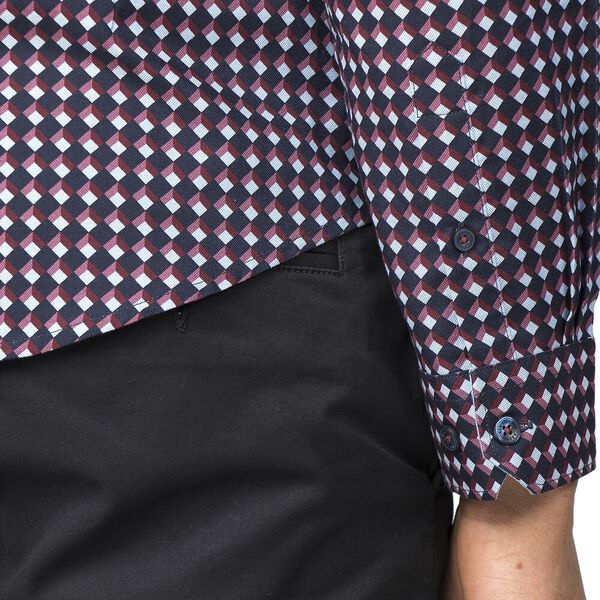 Oxford Geo Shirt, DARK NAVY, hi-res