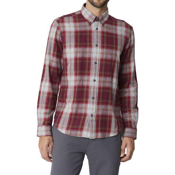 Ls Buffalo Check Shirt Chestnut, CHESTNUT, hi-res