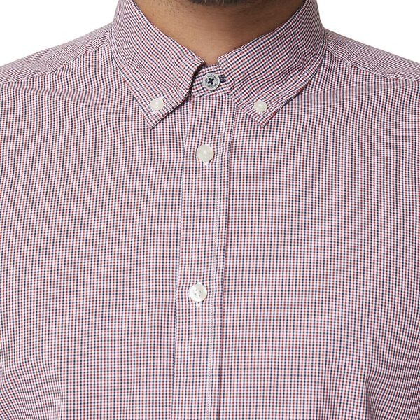 MICRO CHECK MOD LS SHIRT RED, RED, hi-res