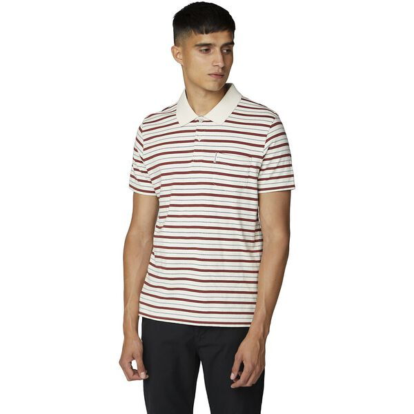 RETRO STRIPE POLO IVORY