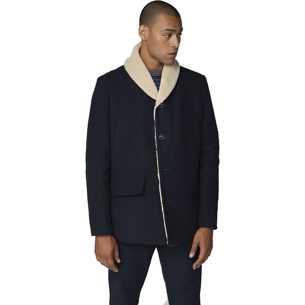 Heavyweight Shawl Collar Coat Midnight