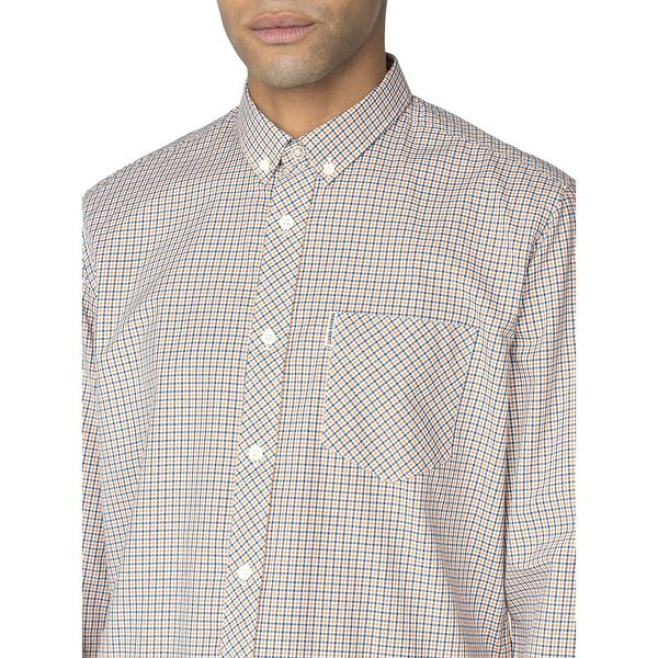 LS MINI HOUSE GINGHAM SHIRT, ORANGE, hi-res