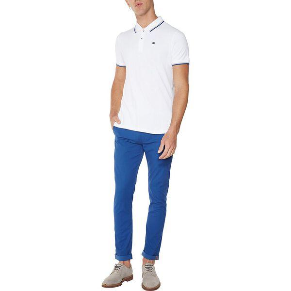 THE ROMFORD POLO, WHITE BLUE, hi-res