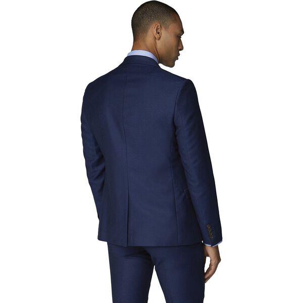 British Bright Blue Crepe Jacket Bright, BRIGHT BLUE, hi-res