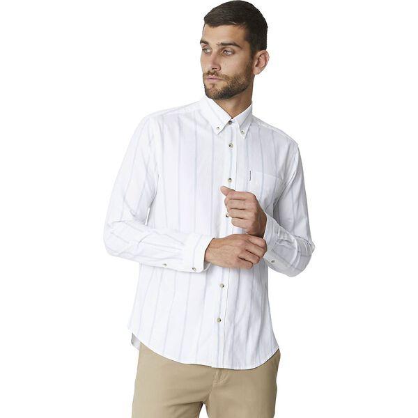 Ls Twin Stripe Oxford White, WHITE, hi-res