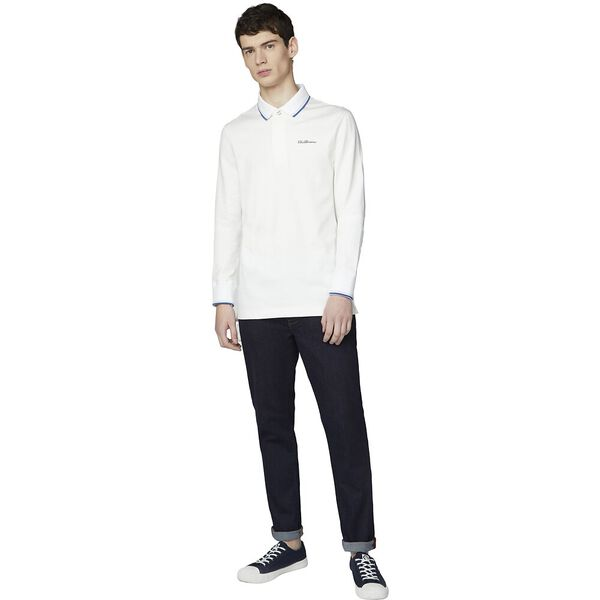LONG SLEEVE RUGBY SHIRT, IVORY, hi-res