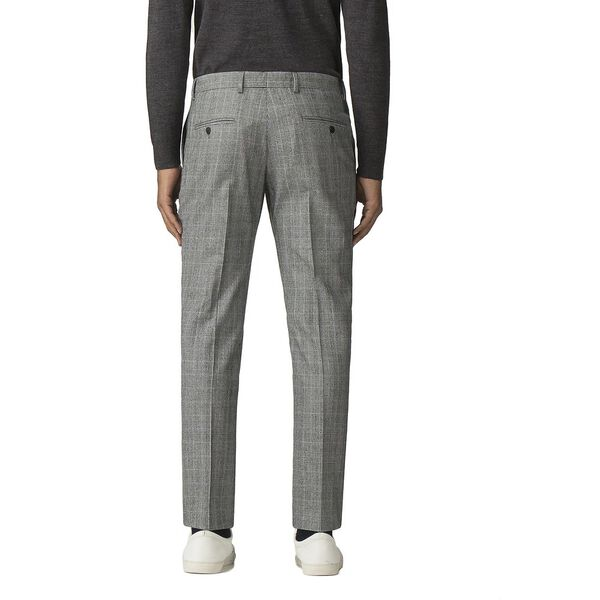 GREY POW MOD CHECK TROUSER, GREY, hi-res