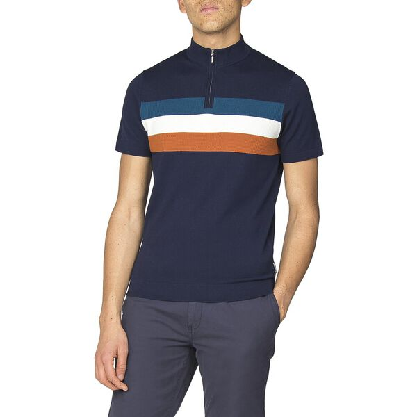 ZIP TURTLE NECK KNITTED POLO KNIT