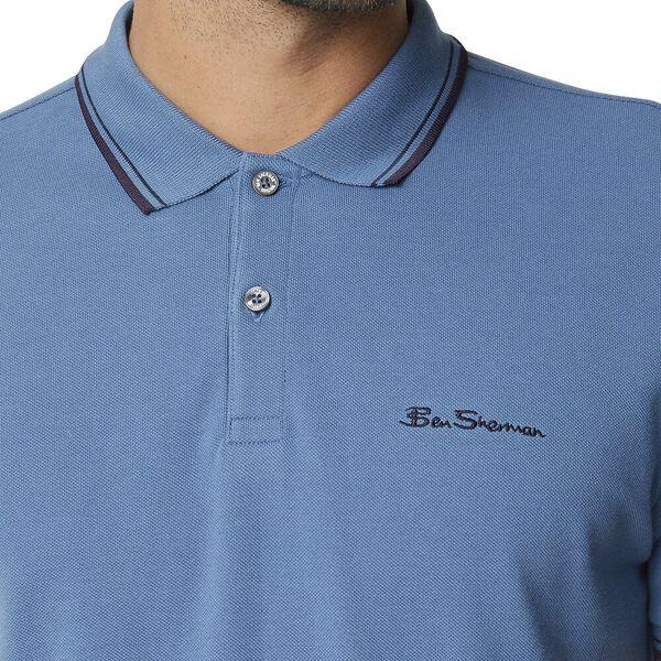 Signature Romford Polo Slate Blue, SLATE BLUE, hi-res